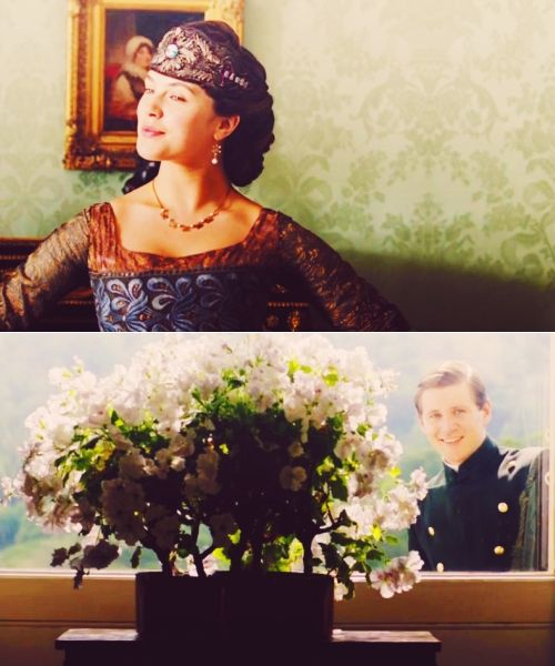 Downton Abbey, Sybil is such an amazing Character! Gosh got to love Tom peeking in :P