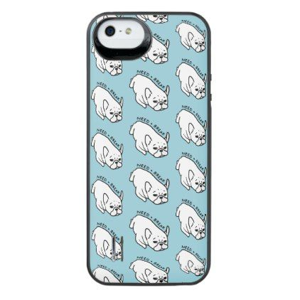 #Need a break the cute Frenchie wants a nap iPhone SE/5/5s Battery Case - #bulldog #puppy #bulldogs #dog #dogs #pet #pets
