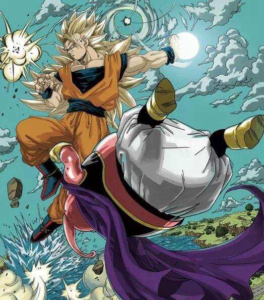 Dbz Goku vs Majin Buu | Artist - Akira Toriyama ...