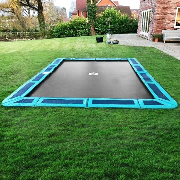 14ft X 10ft Hauptstadt Rechteckig Im Boden Trampolin Kit Grun Bodentrampolin In Ground Trampoline Backyard Trampoline In Ground Trampoline Kit