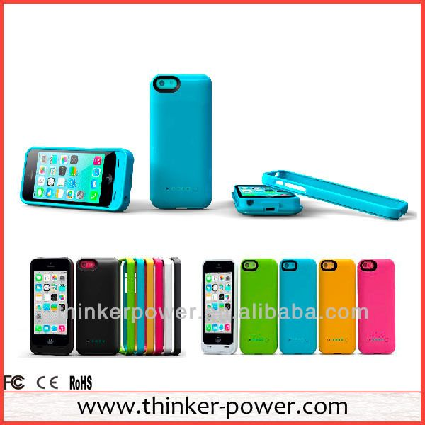 universal mobile phone battery charger case for iphpne 5c  Newest  for iphone 5C design  2600 mAh