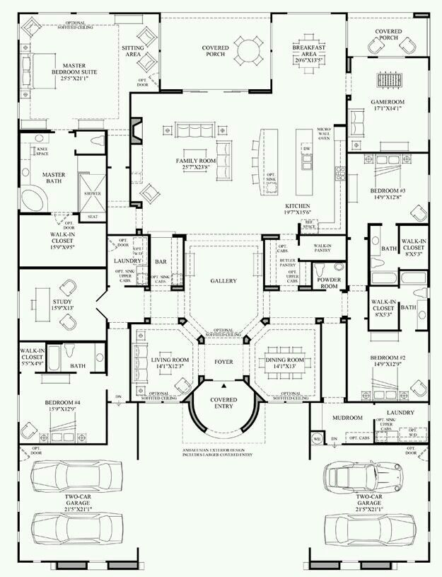460 best plan déco images on Pinterest House floor plans, Floor - plan petite maison 70 m2