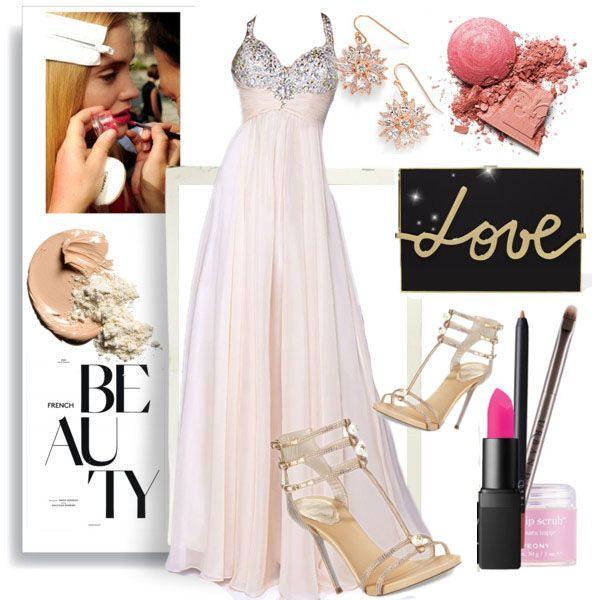 A-line Sleeveless Chiffon Prom Dresses/Evening Dresses With Rhinestone