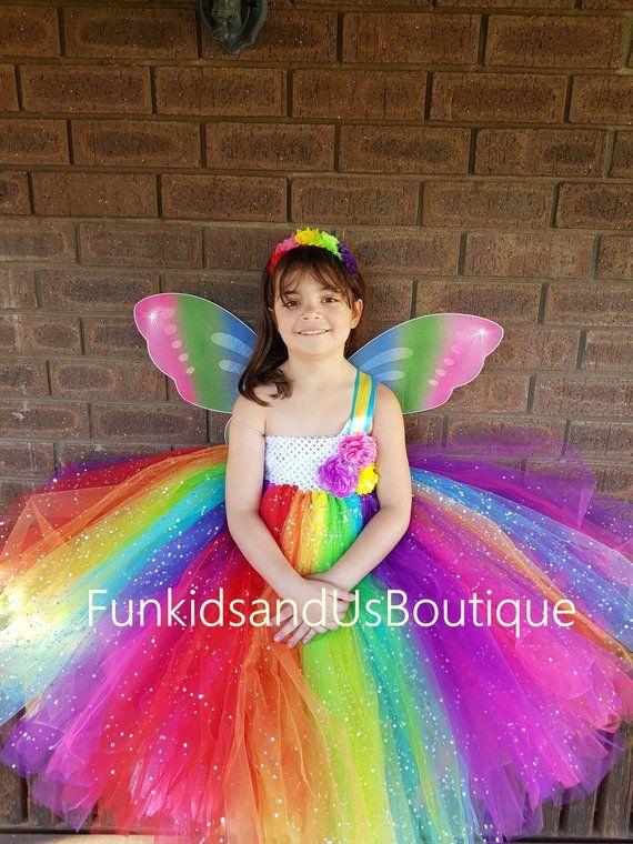 Sparkly premium rainbow tutu skirt
