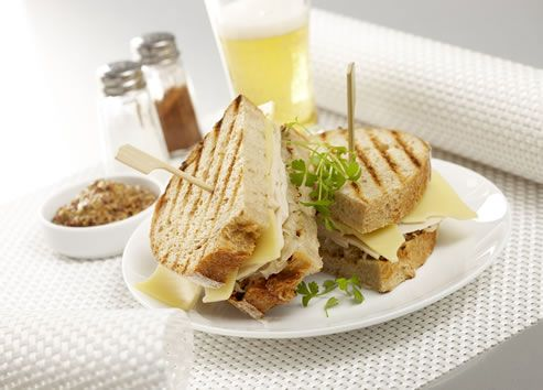 Chicken Roll on Toasted Rye