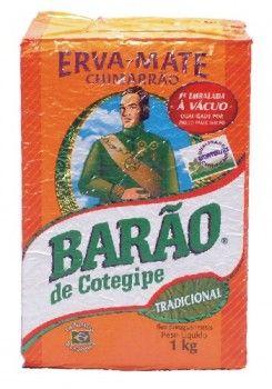 Vicios Brasileiros - Erva Mate - Barao - 1kg  Der original Matetee aus Brasilien - Die Nummer 1