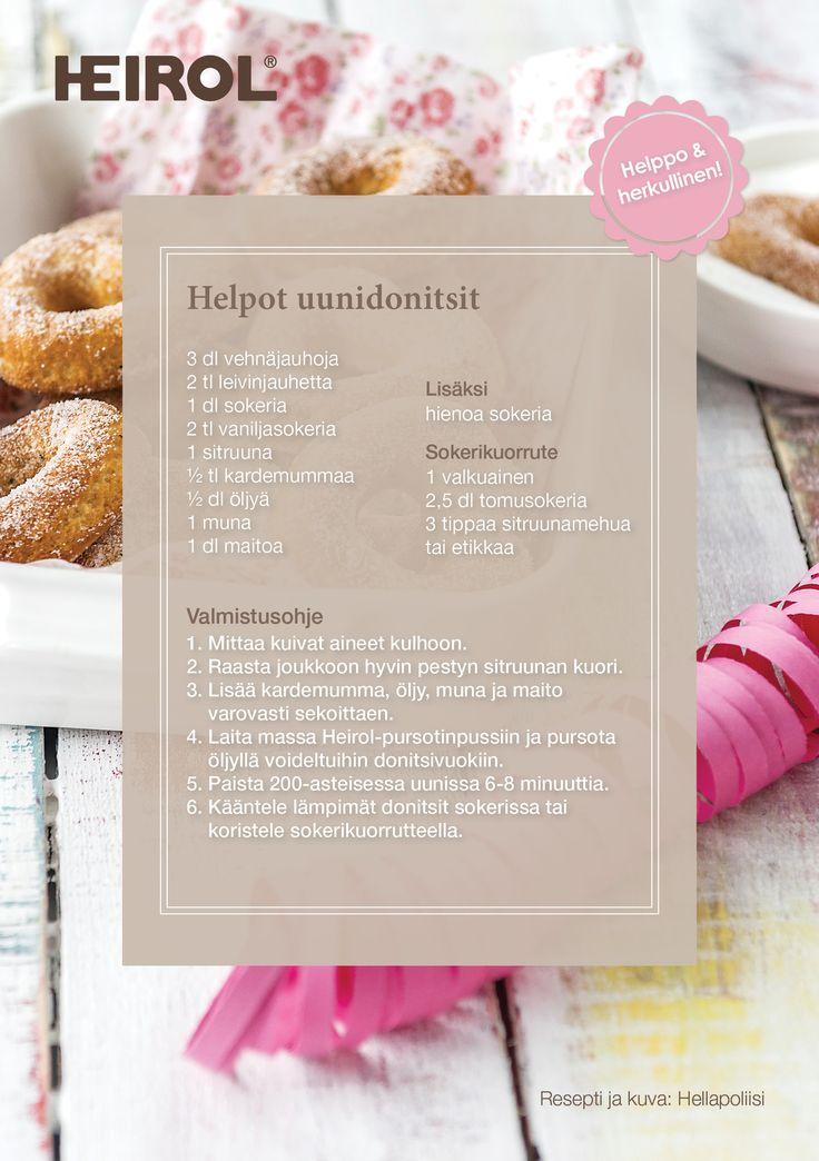 Donitsivuoassa paistat uunidonitsit helposti ilman kuumaa rasvaa! #vappu #uunidonitsit #terveellisempiherkku