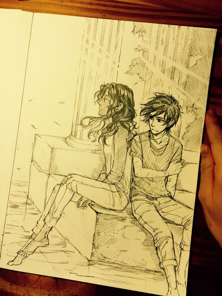 Free time in New Rome. They don't talk, stay with in a sunny spot. Nico and Reyna