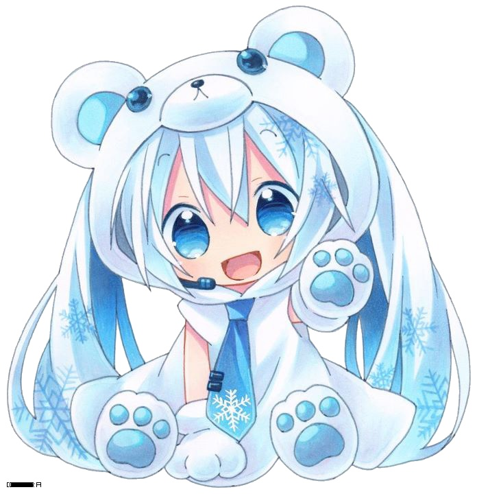 Miku Polar Bear For The Kids Pinterest Chibi Comment And
