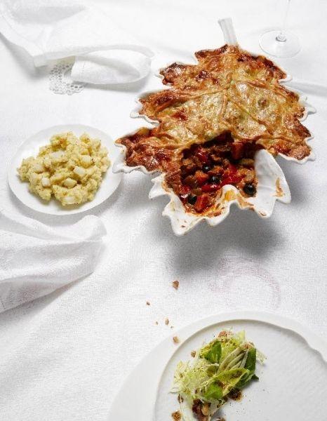 Pie met pompoen en paddenstoelen  - Inspiratie voor Kerst: 25 vega recepten | ELLE Eten