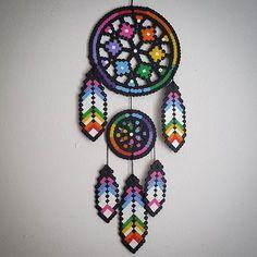 Dreamcatcher perler beads by staywithme_arienette
