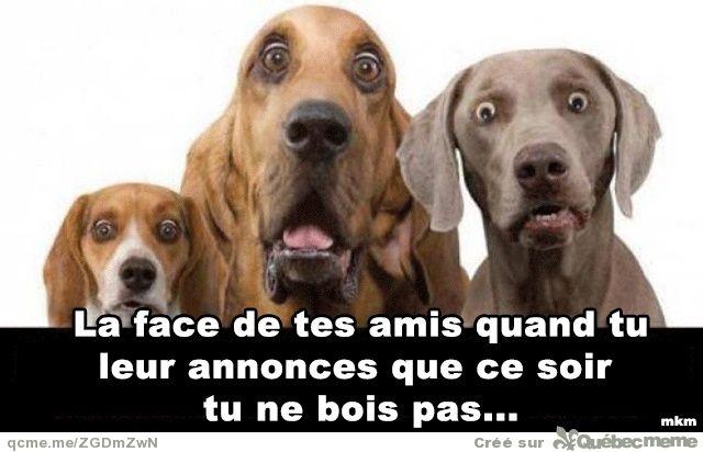 La face de tes amis …