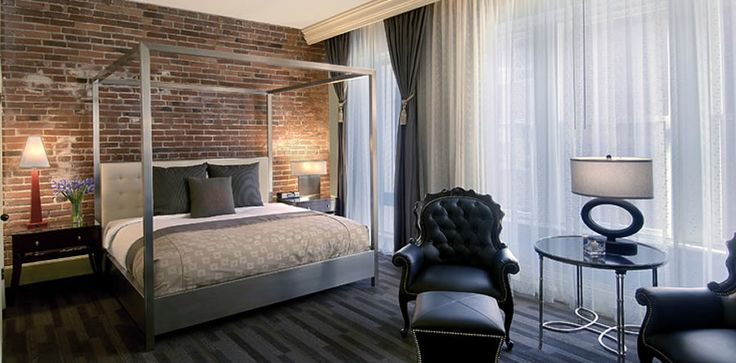 Luxury Boutique Hotel Interior Design of Alexis Hotel Seattle, Washington, Suite Bedroom