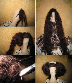 Новый Мастер-класс: волосы куклы-тильды. Обсуждение на LiveInternet - Российский Сервис Онлайн-Дневников