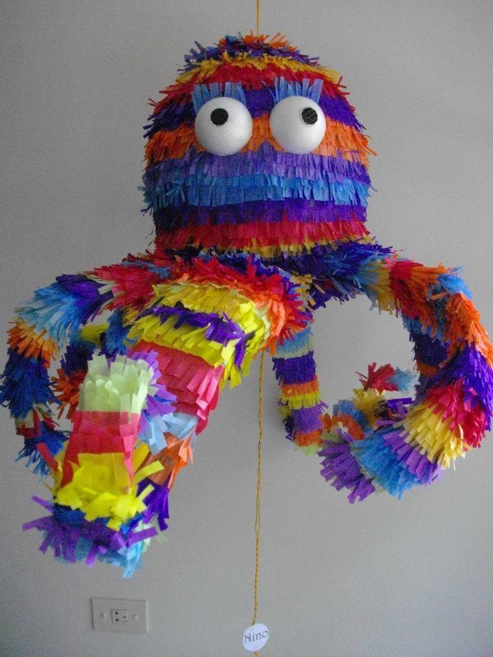 Pulpo - Octopus Hand Made - Piñata