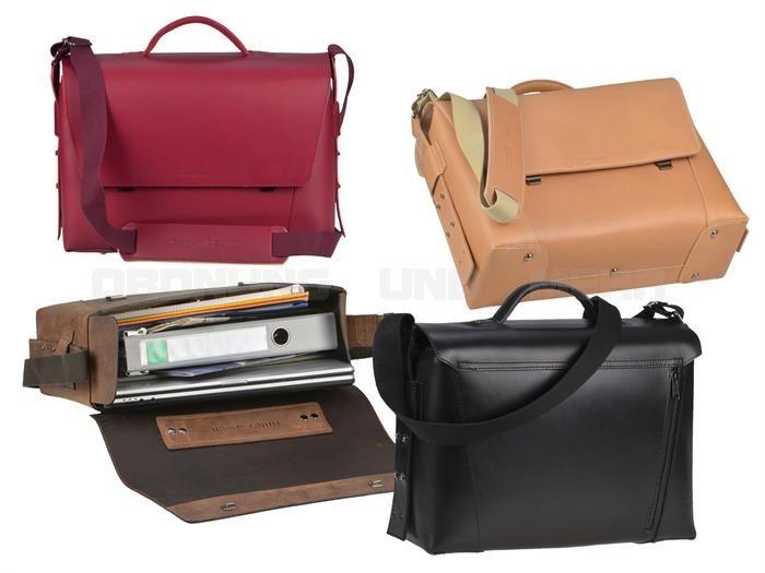 ruitertassen VANGUARD - Sattelleder Aktentasche  Notebooktasche Schultasche mit 3 Fächern - 4 Farben
