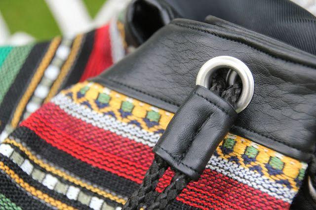 DIY Cómo hacer un bolso Mochila tipo étnico :D