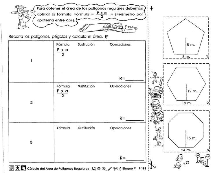 Cálculo del area de polígonos regulares