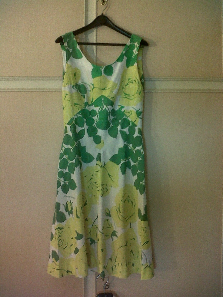 60s floral cotton dress (Scarabochio)