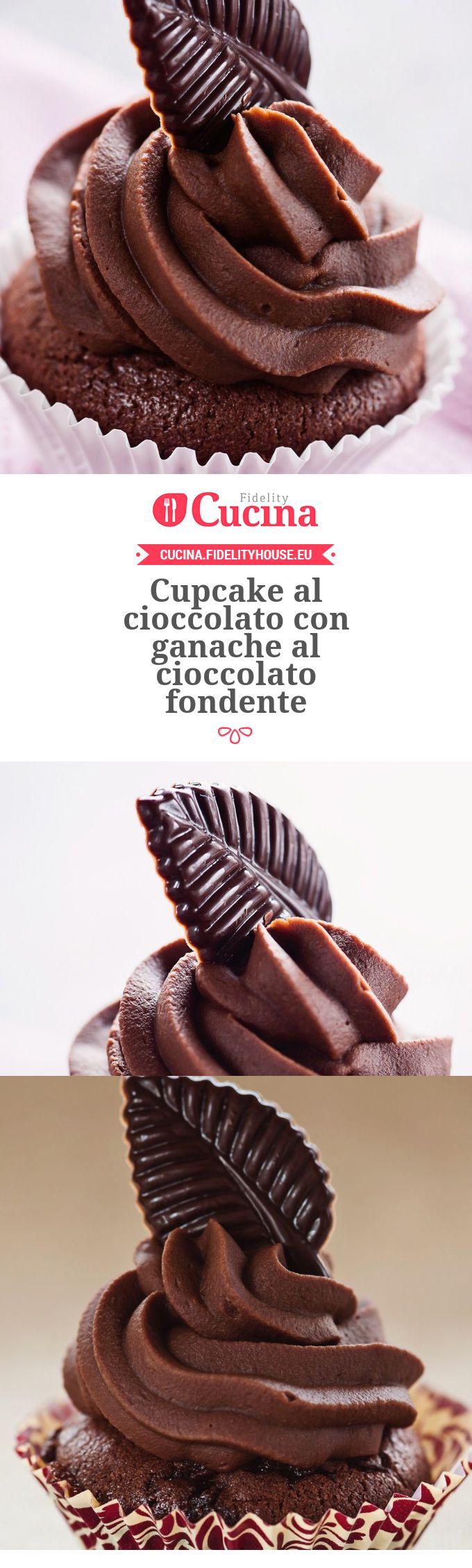 #Cupcake al #cioccolato con ganache al cioccolato fondente