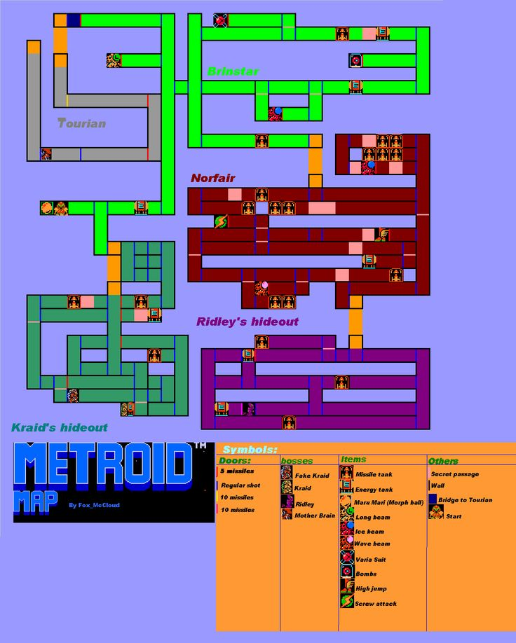 Metroid (NES) map