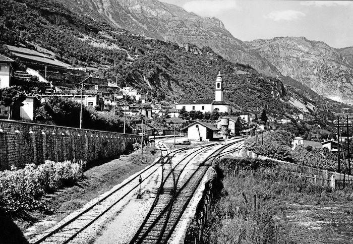 L'arrivo alla stazione di Longarone