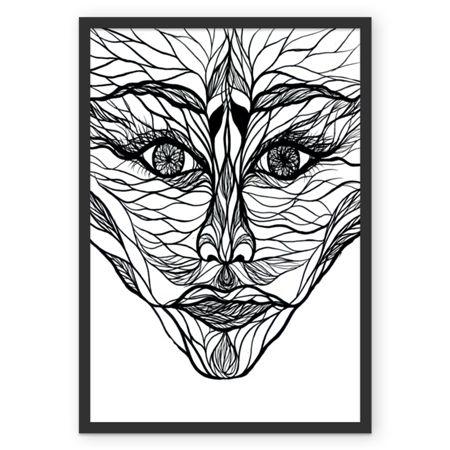 Homem Linha. Poster, minha arte deorando o seu ambiente ;) disponível em colab55.com/@lilianandretta