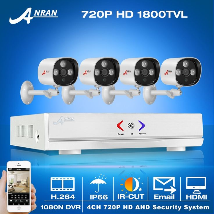 124.64$  Watch here - http://ai06e.worlditems.win/all/product.php?id=32710219854 - ANRAN New!4CH 1080N HDMI DVR Security CCTV System+4pcs P2P 720P 1800TVL HD Outdoor Weatherproof IR Video Surveillance Camera Kit