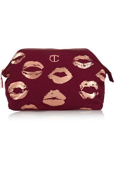 Burgundy cotton-canvas Zip fastening along top Designer color: Night Crimson