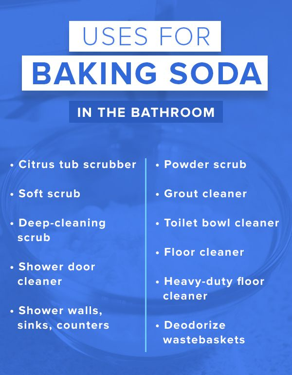 Try using baking soda as a cleaning product in your bathroom. It has so many different uses.