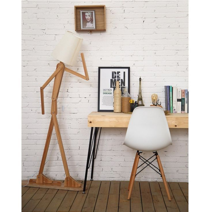 Modern Contemporary Decorative Wooden Floor Lamp Light Standing