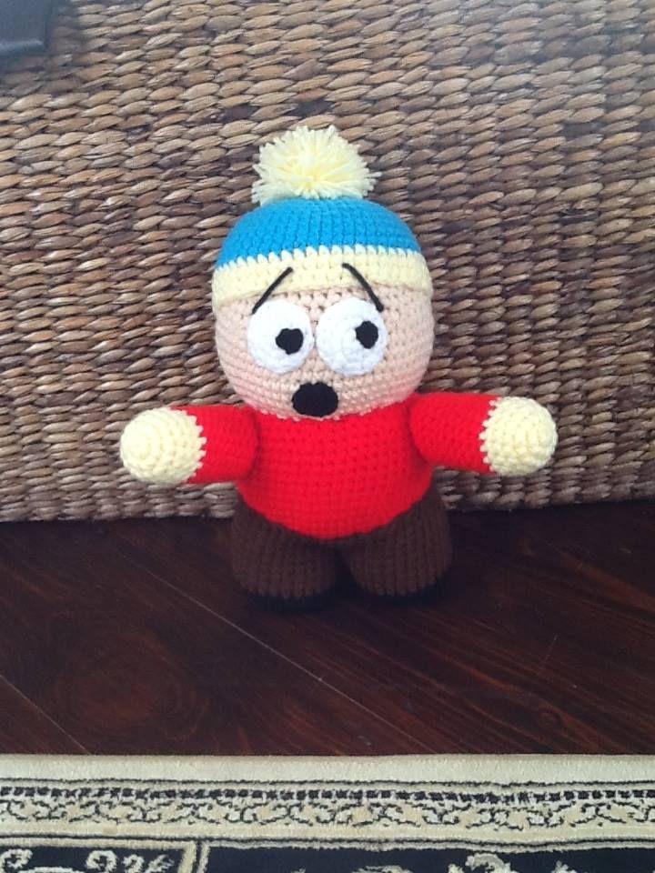 Handmade Eric Cartman Doll from South Park. Get him here - https://www.facebook.com/CBKnits