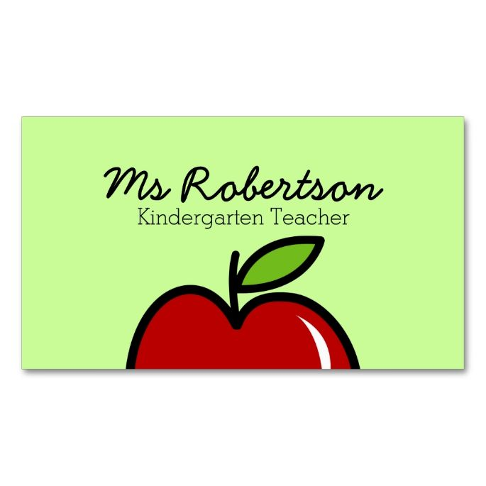 2148 best images about Teacher Business Cards on Pinterest