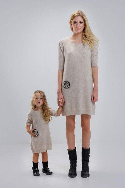 Matching Precious Oatmeal Dresses