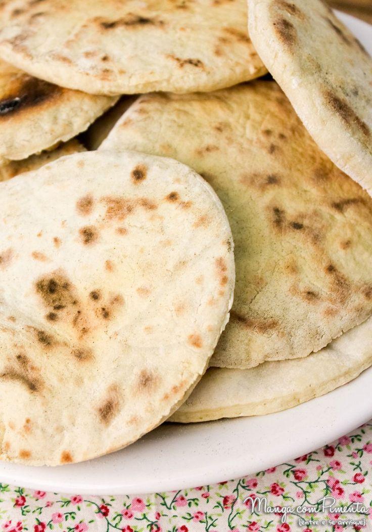 Receita de Pão Pita  {Pão Sírio ou Árabe}