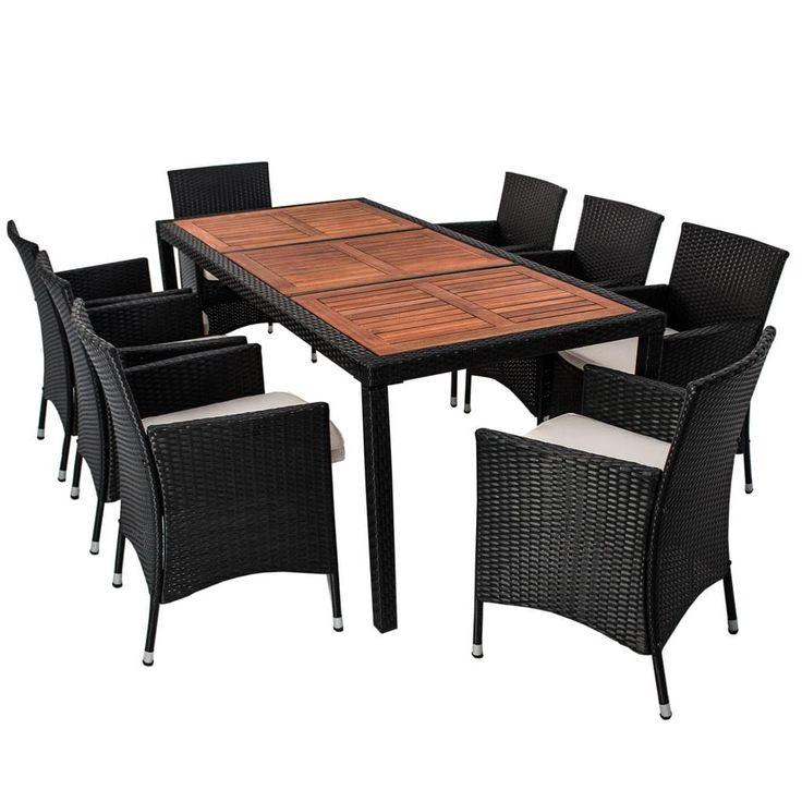 die besten 25 polyrattan essgruppe ideen auf pinterest sonneninsel rattan polyrattan. Black Bedroom Furniture Sets. Home Design Ideas