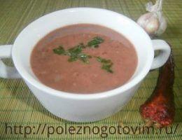 Миниатюра к статье Острый суп из фасоли без мяса