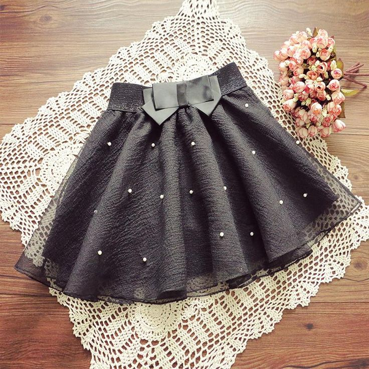 Tutu Pleated Organza Bow Knot Umbrella Skirt
