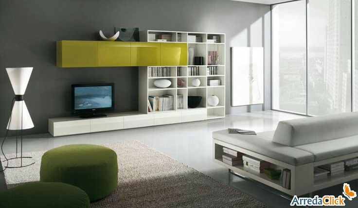 libreria - mobile TV - http://www.arredaclick.com/it/parete-attrezzata-libreria-integrata-tech-fs39.html