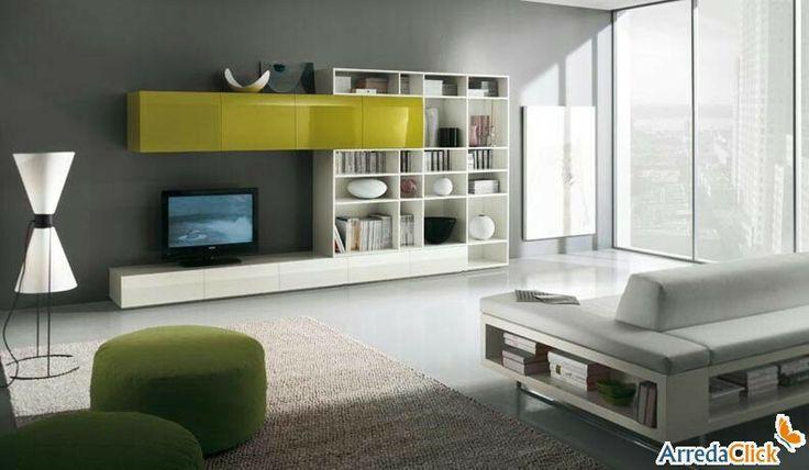 libreria - mobile TV - http://www.arredaclick.com/it/parete-attrezzata-libreria-integrata-tech-fs39.html