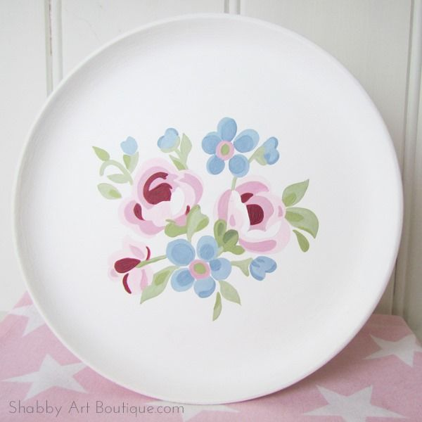 A Cottage Life ~ DIY GreenGate - painted plate