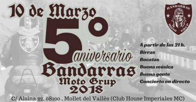 5º Aniversario Bandarras Moto Grup En Mollet Del Vallès Barcelona Bocatas Buena Gente Cursillo