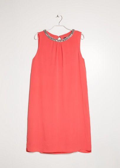 Rhinestone embroidered dress #VioletaBYMANGO #New #SS14