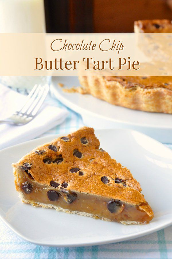 This Chocolate Chip Butter Tart Pie is an irresistible close cousin to a pecan pie & makes a wonderfully delicious alternative for those with nut allergies.