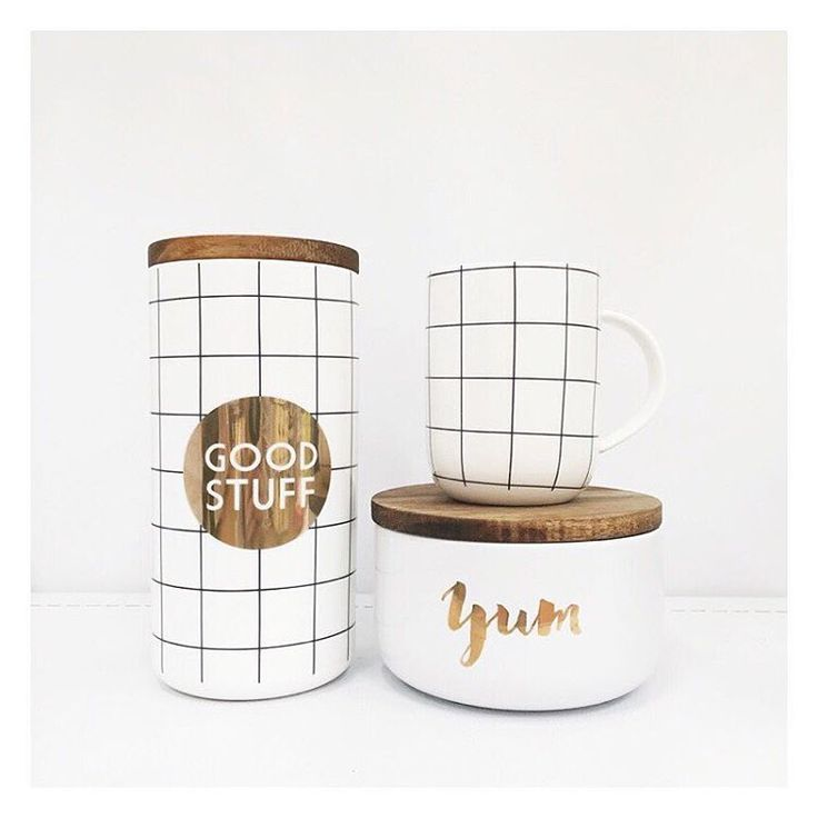 """The Bargain Diaries on Instagram: """"@targetaus is right on trend with these items from the @i_am_lisat range. We absolutely love every single one of these pieces! Pictured is the $20 yum flat canister, $20 tall grid canister and the $10 grid mug. #targetaus #targetstyle #target #iamlisat"""""""