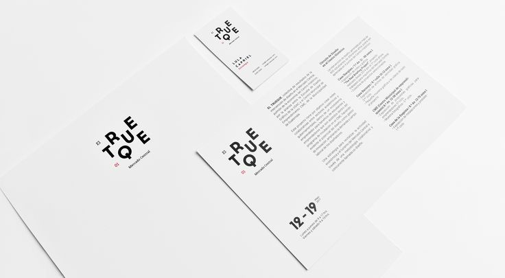 El Trueque 01 Exhibition - Branding on Behance
