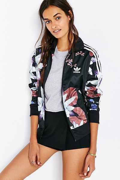 adidas Originals Lotus Print Track Jacket - Urban Outfitters