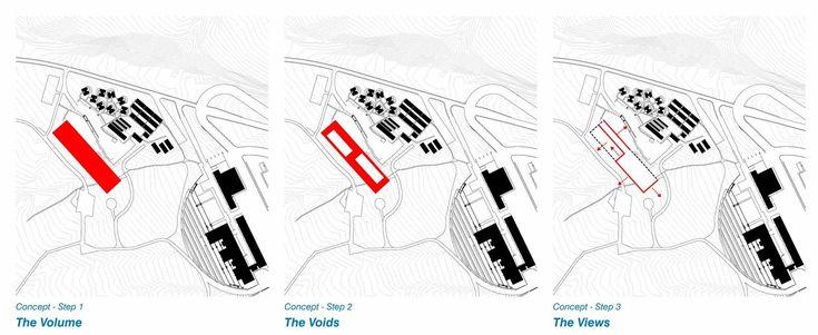 Alma Hotel proposal / LAN Architecture,concept diagrams