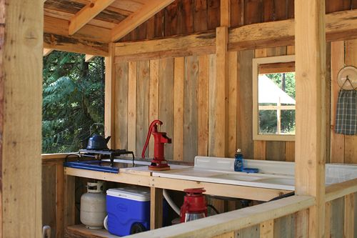 Really want to make an outdoor canning kitchen.  With a non-electric pump.  YES!