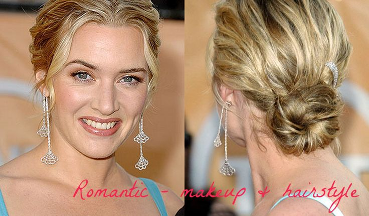 Kate Winslet - makeup and hair for Romantic (Kibbe). Typ urody Romantic – seksbomba